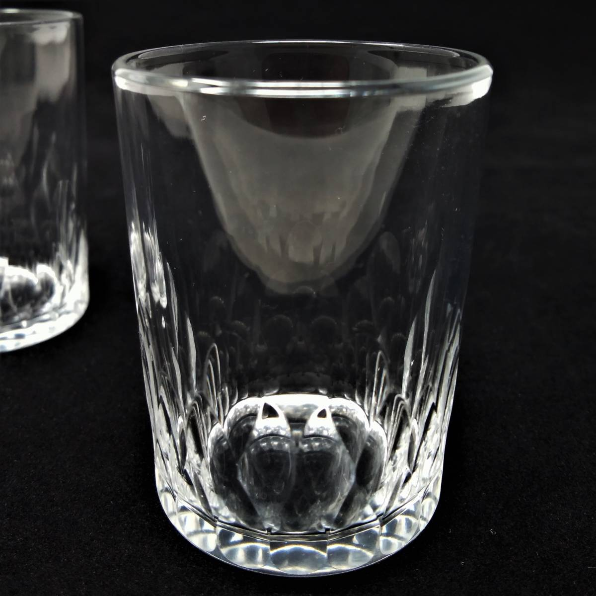 バカラ BACCARAT リシュリュー Richelieu ショットグラス リキュールグラス 2客セット H4.7cm 087◆冷酒 クリスタル タンブラー ゴブレット_画像10