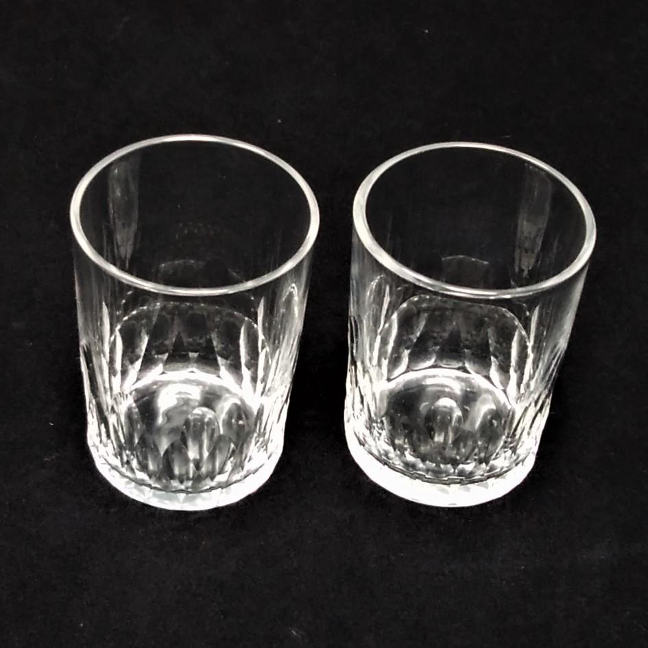 バカラ BACCARAT リシュリュー Richelieu ショットグラス リキュールグラス 2客セット H4.7cm 087◆冷酒 クリスタル タンブラー ゴブレット_画像4