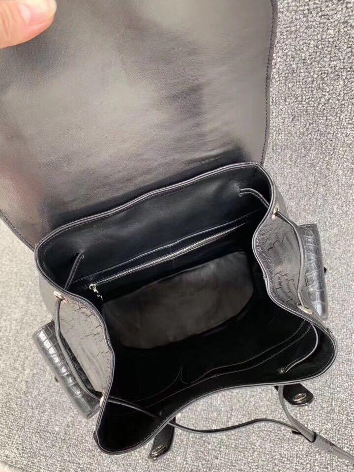 クロコダイル 腹革使用 本物保証 貴重品 ワニ革 メンズ 総本革 ブリーフケース鞄ショルダーバッグ_画像6
