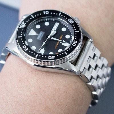599【新品】TAIKONAUT(タイコノート)MiLTAT 20mm メタル時計バンド ステンレススチール ブラッシュドシルバー ストレートエンド_画像4