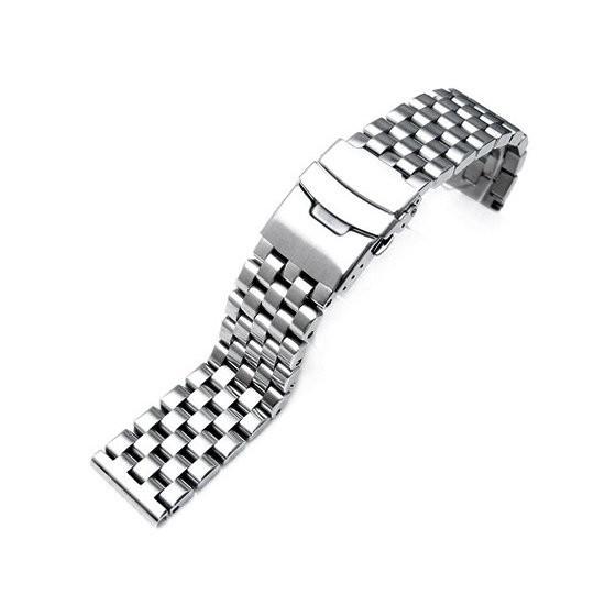 599【新品】TAIKONAUT(タイコノート)MiLTAT 20mm メタル時計バンド ステンレススチール ブラッシュドシルバー ストレートエンド
