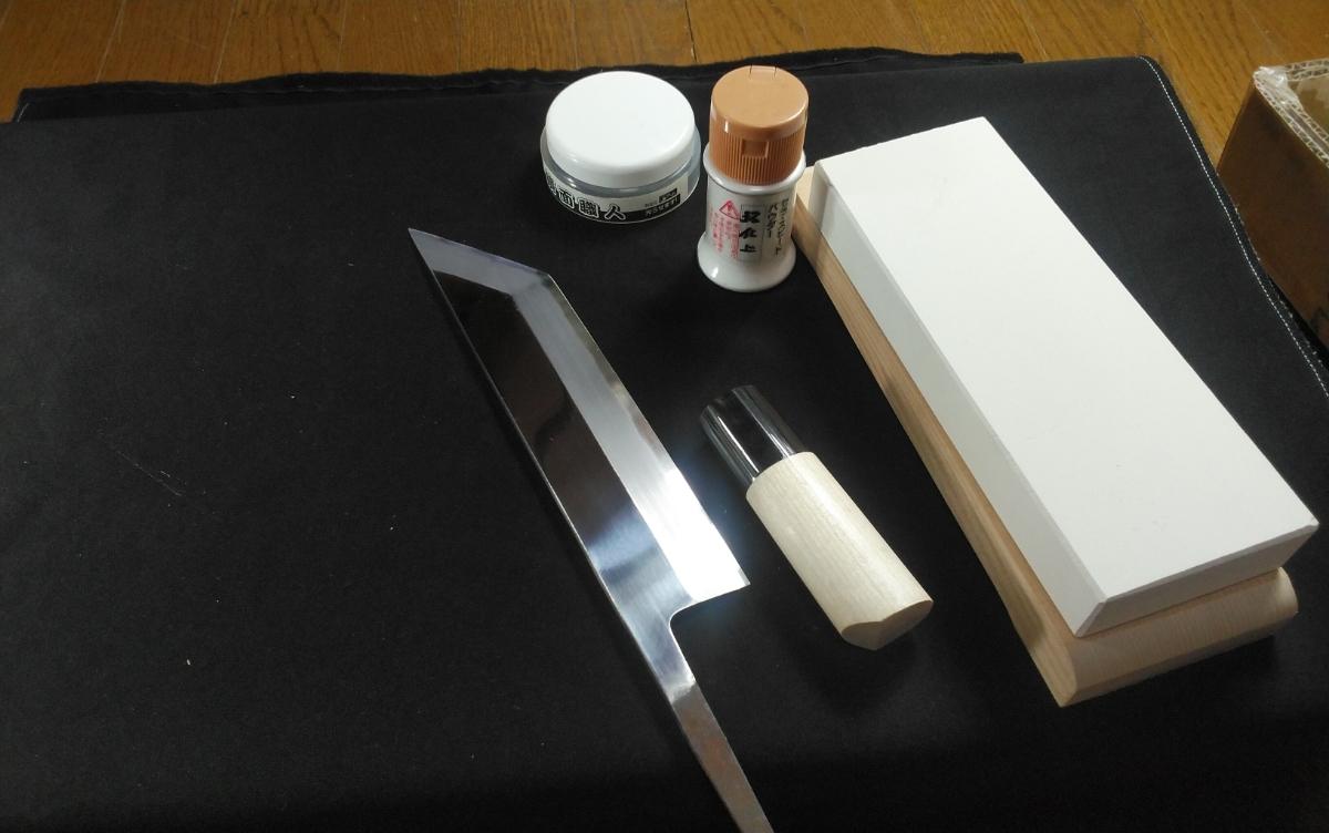 城山刃物製作所 7寸 江戸裂き 鰻裂き 白二鋼 ウルトラ両鏡面_画像9