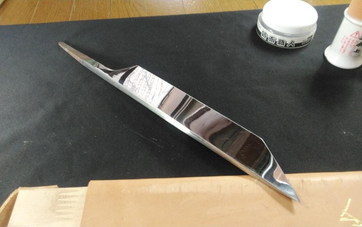 城山刃物製作所 7寸 江戸裂き 鰻裂き 白二鋼 ウルトラ両鏡面_画像6