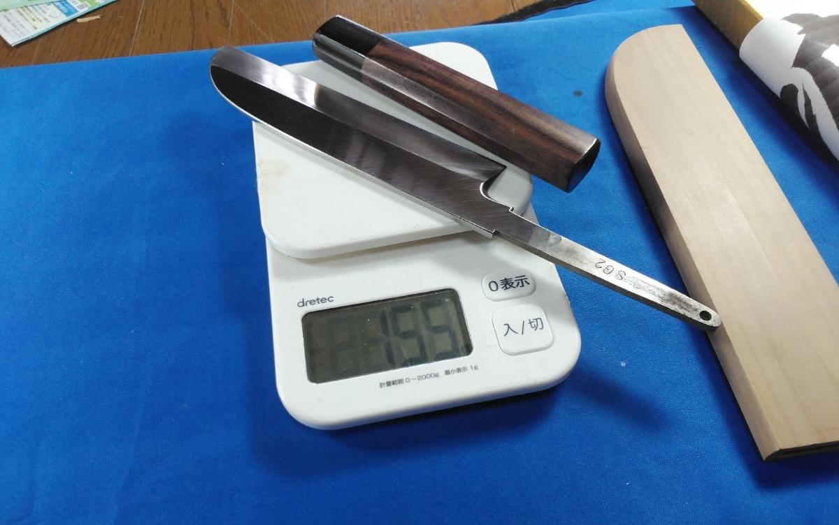 城山刃物製作所 5寸5分 皮ムキ ムキモノ 細工包丁 特殊金属 希少金属 スーパーゴールド2(錆びにくい)真空焼き入れHRC67_画像7