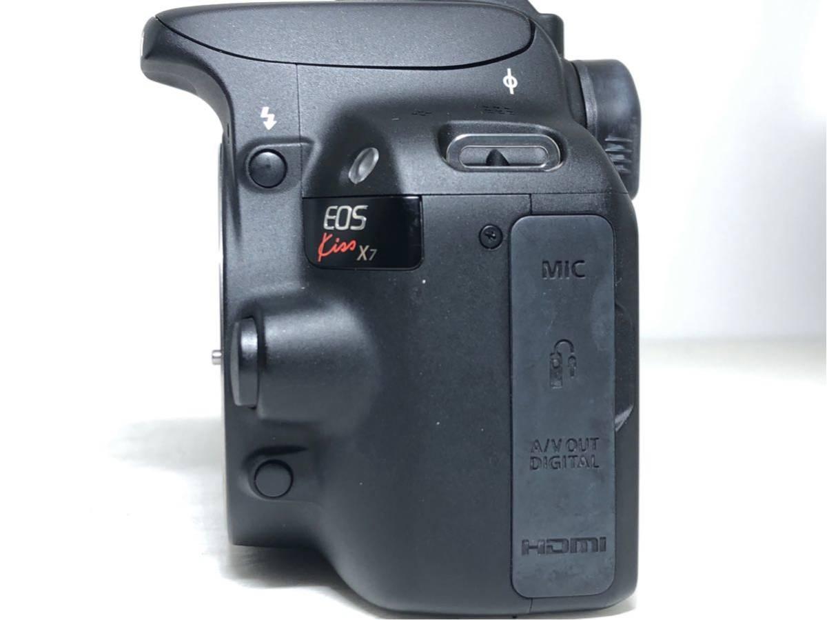 ◆美品◆キャノン Canon EOS KISS X7 ダブルレンズセット 元箱付き #6151_画像3