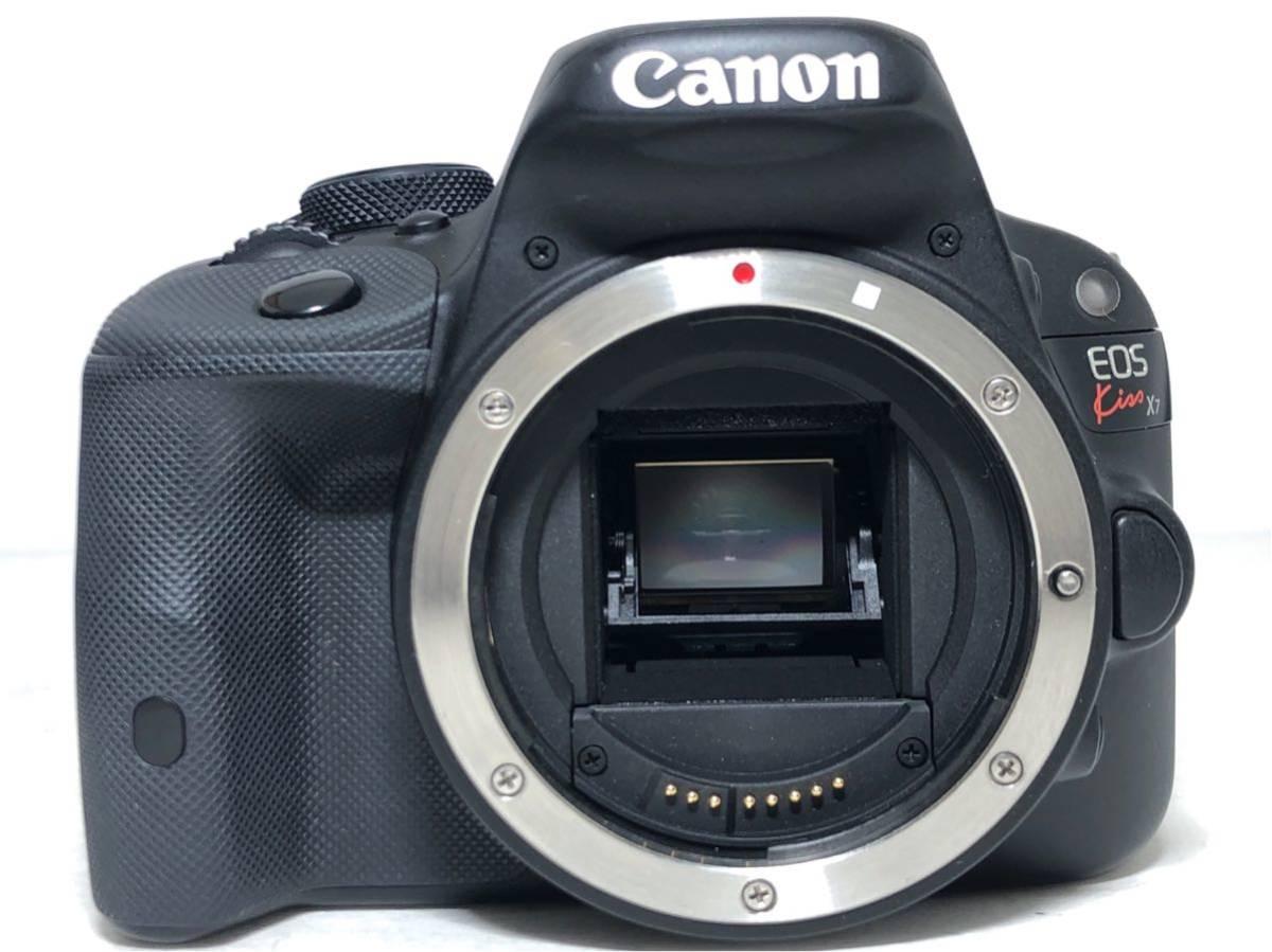 ◆美品◆キャノン Canon EOS KISS X7 ダブルレンズセット 元箱付き #6151_画像2
