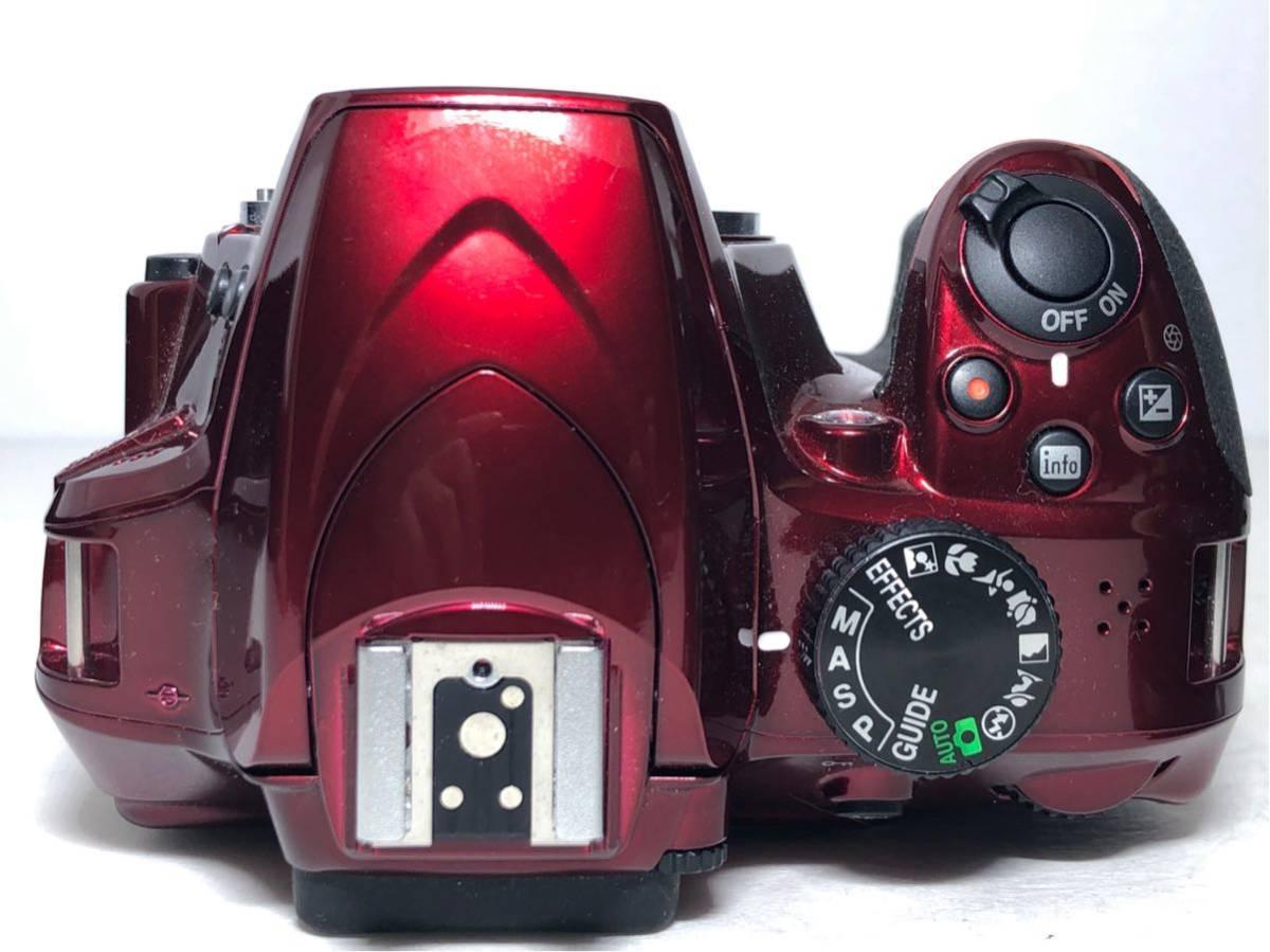 ◆新品級◆ニコン Nikon D3400 AF-P ダブルズームキット デジタル 一眼レフ レッド 16Gメモリ 予備バッテリー2個 Nikonバッグ付 6か月保証_画像7