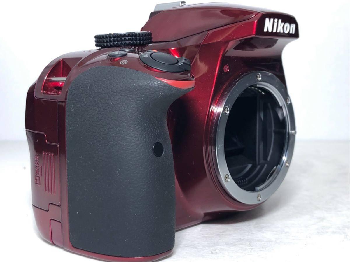 ◆新品級◆ニコン Nikon D3400 AF-P ダブルズームキット デジタル 一眼レフ レッド 16Gメモリ 予備バッテリー2個 Nikonバッグ付 6か月保証_画像6