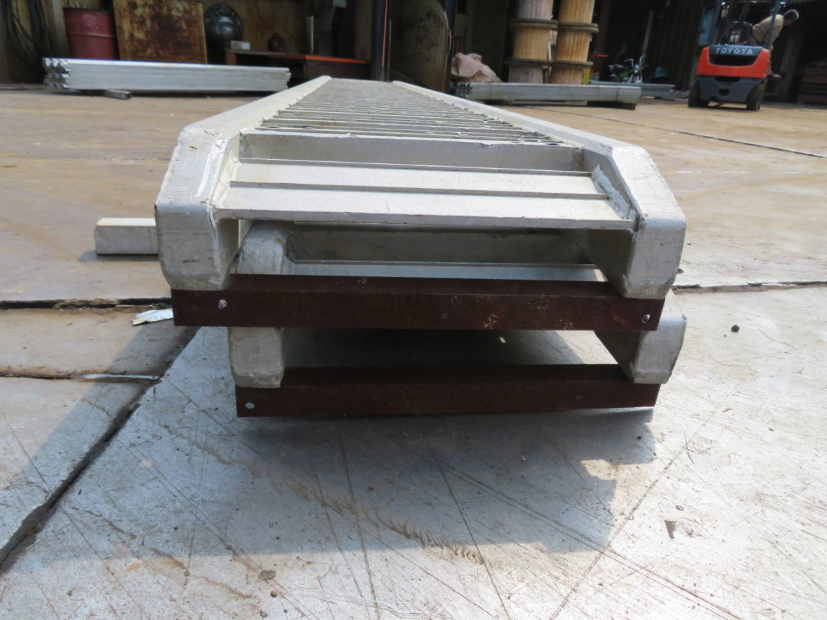 №147 アルミ歩み板 道板 3トン 6T トラック重機積み込み アルミラダー アルミブリッジ ショベル積載 中古2本セット 福岡_画像4
