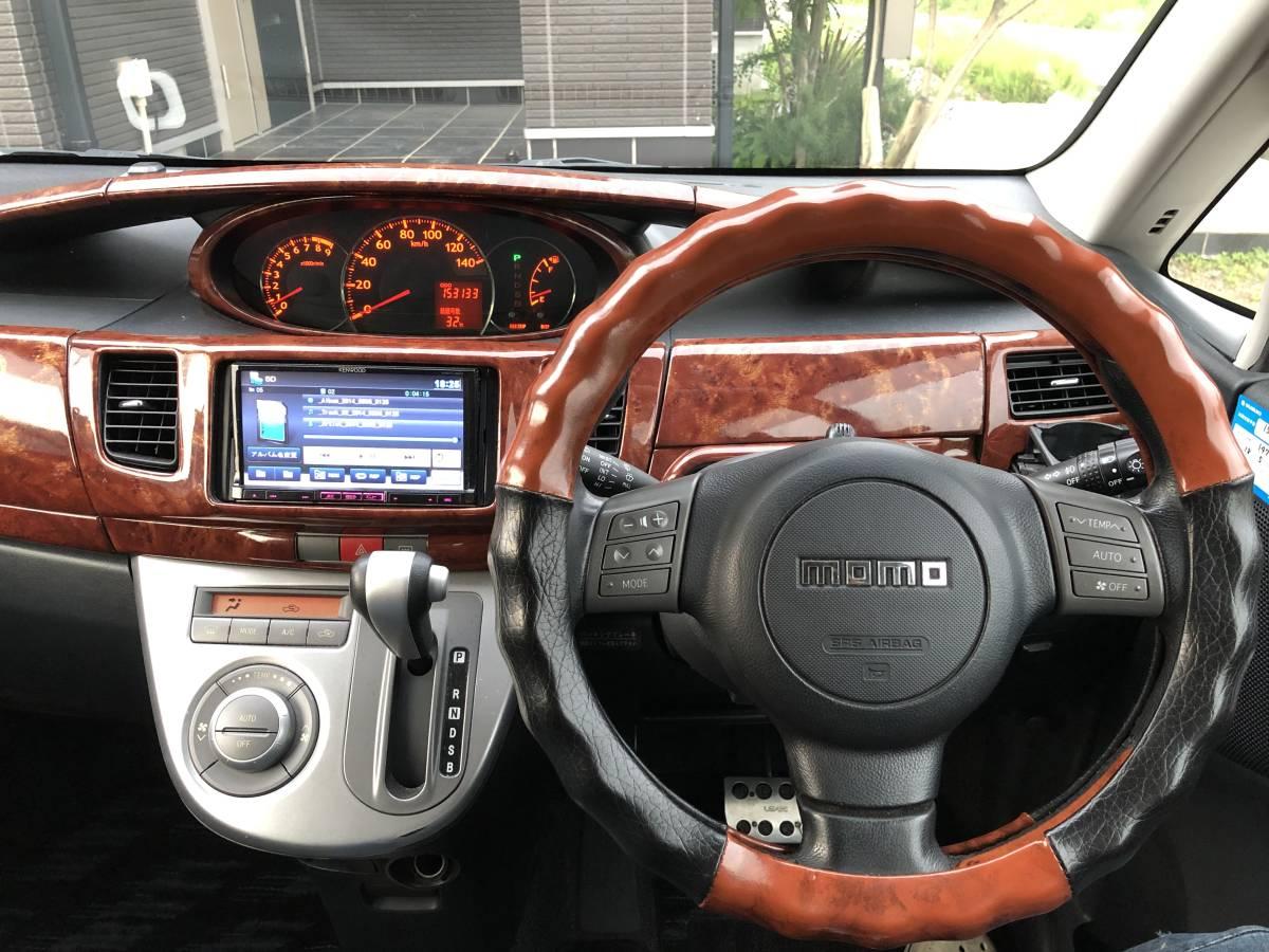 格安! L175s ムーヴカスタム スマートキー ターボ モモステ SDナビ付き 車高調 16インチDADアルミ 車検約一年付き!_画像5