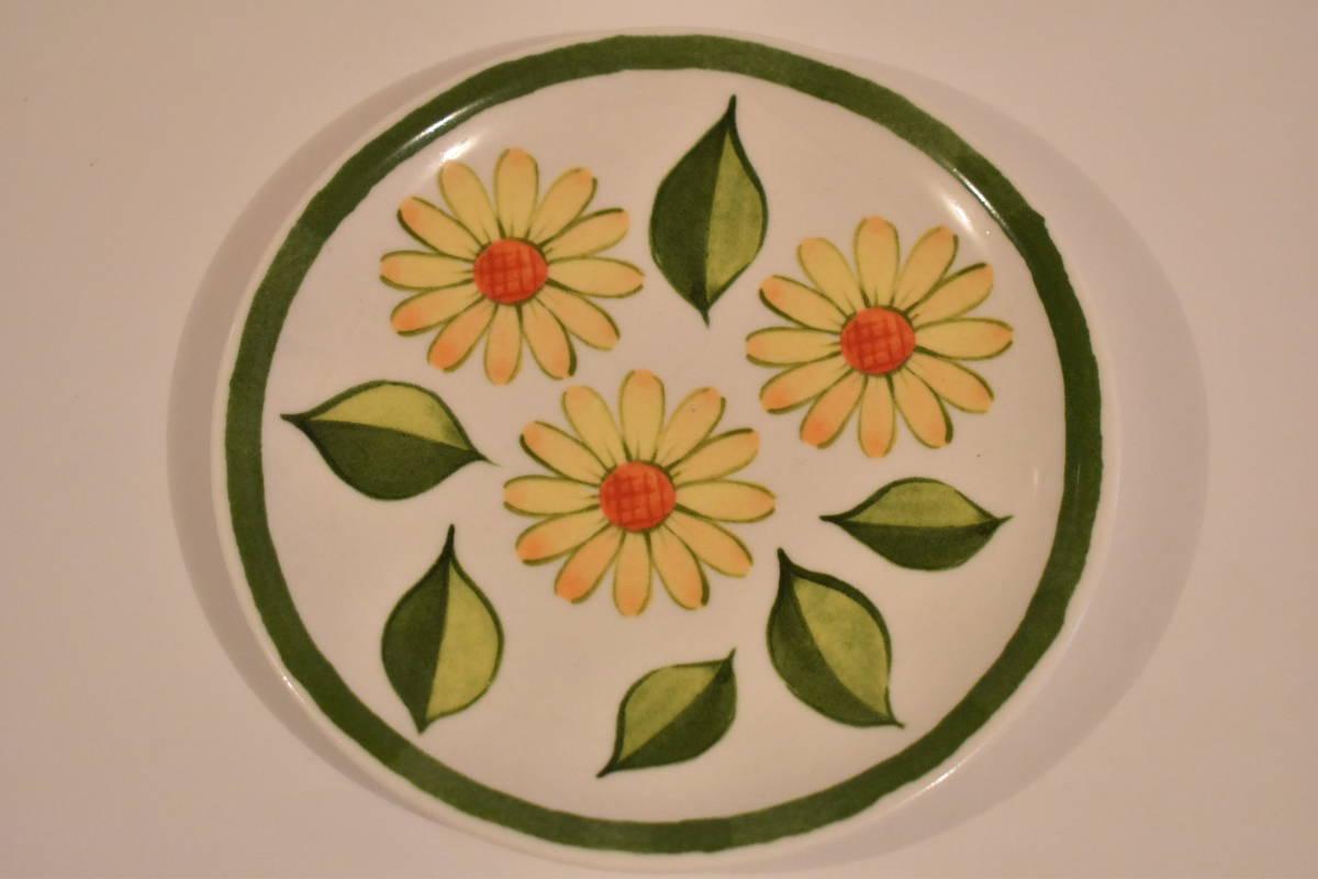 【未使用】ミスタードーナツ スペイン風 花柄 小皿 5枚セット 陶器*プレート*マーガレット*フラワー*レトロポップ*食器*レトロ*ミスド_画像6