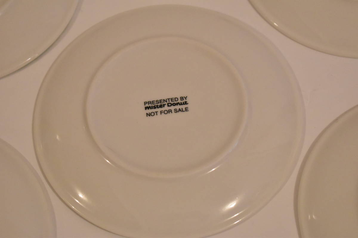 【未使用】ミスタードーナツ スペイン風 花柄 小皿 5枚セット 陶器*プレート*マーガレット*フラワー*レトロポップ*食器*レトロ*ミスド_画像9