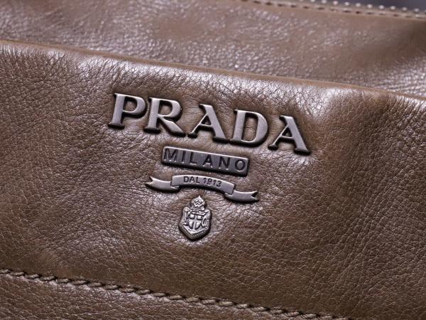 プラダ PRADA 最高級グレースカーフレザー斜め掛け2WAYハンドバッグ SV金具 ショルダーバッグ トートバッグ ギャラ付 本物 正規_画像5