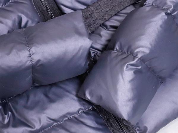モンクレール 超大判ラクーンファー毛皮フード付きベルテッドダウンコート サイズ0 女性服 ジャケット ブルゾン MONCLER 本物 国内正規_画像4