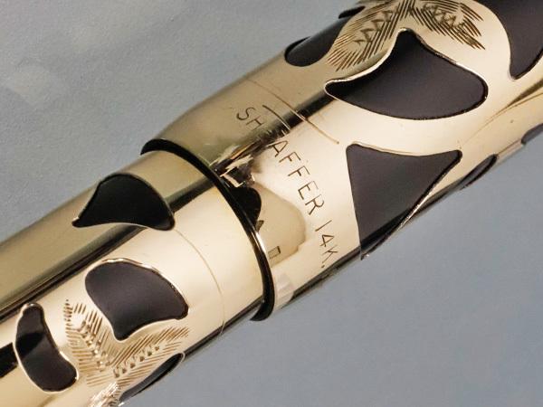シェーファー 極希少 K14ソリッドゴールド装飾 ノスタルジア 金無垢 万年筆 ステーショナリー 筆記用具 SHEAFFER 本物 正規 _画像5