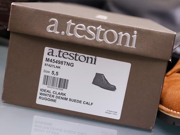 新品同 テストーニ 高機能 XL EXTRALIGHT ソール IDEAL CLARK デザートブーツ メンズ5.5 紳士革靴 シューズ 元箱付 TESTONI 本物 正規_画像10