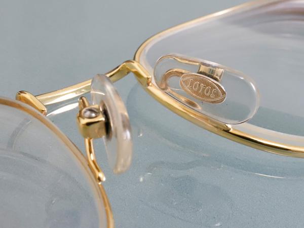 極上品 ロトス LOTOS 極希少 フルリム K18イエローゴールド フレーム 眼鏡 サングラス 750YG アイウェア YG18KT 本物 正規_画像6
