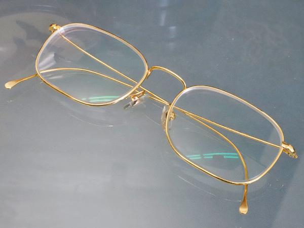 極上品 ロトス LOTOS 極希少 フルリム K18イエローゴールド フレーム 眼鏡 サングラス 750YG アイウェア YG18KT 本物 正規