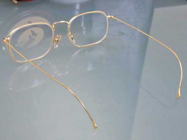 極上品 ロトス LOTOS 極希少 フルリム K18イエローゴールド フレーム 眼鏡 サングラス 750YG アイウェア YG18KT 本物 正規_画像4
