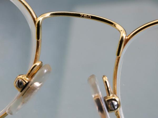 極上品 ロトス LOTOS 極希少 フルリム K18イエローゴールド フレーム 眼鏡 サングラス 750YG アイウェア YG18KT 本物 正規_画像5
