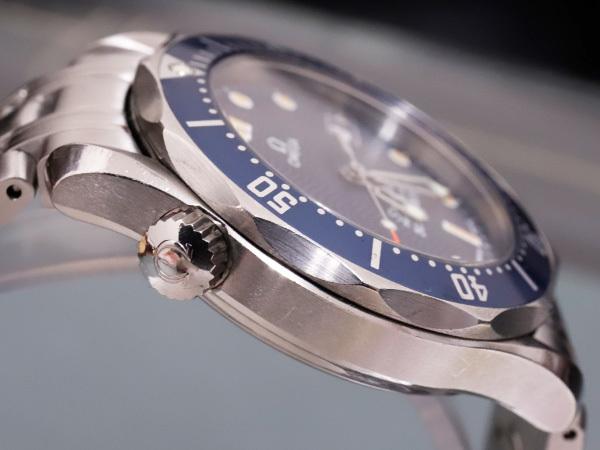 オメガ OMEGA シーマスター300 プロフェッショナル ダイバーズウォッチ 純正ダブルエクステンションブレスレット 腕時計箱 駒付 本物 正規_画像5