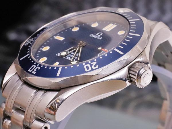 オメガ OMEGA シーマスター300 プロフェッショナル ダイバーズウォッチ 純正ダブルエクステンションブレスレット 腕時計箱 駒付 本物 正規_画像4