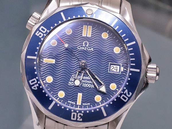 オメガ OMEGA シーマスター300 プロフェッショナル ダイバーズウォッチ 純正ダブルエクステンションブレスレット 腕時計箱 駒付 本物 正規