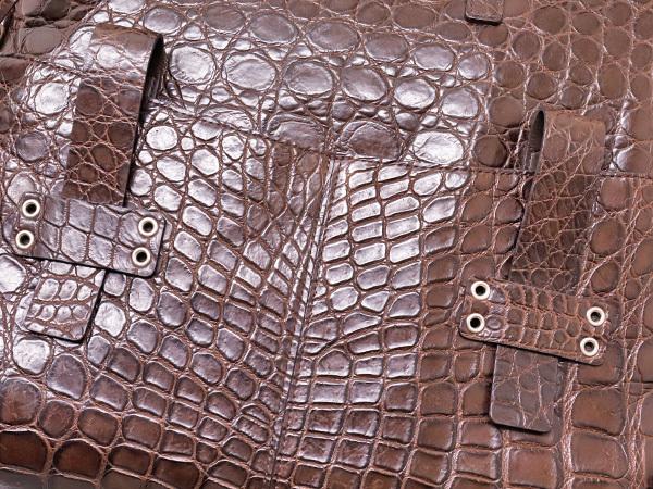 新品同 最高峰JRA認定リアルマットクロコダイルレザー2WAYメンズ書類ビジネスバッグ クロコレザートートバッグ ブリーフケース 本物 正規_画像5