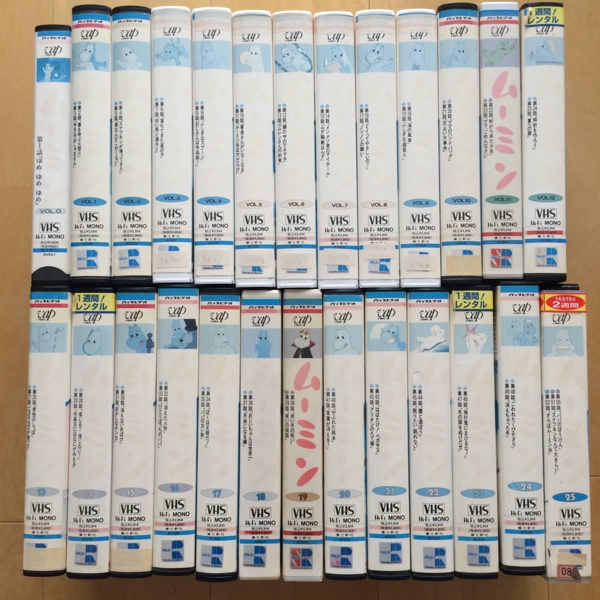 1972年版 ムーミン VHSビデオ 全26巻セット(Vol.0~Vol.25 レンタルアップ品) / 岸田今日子_画像2
