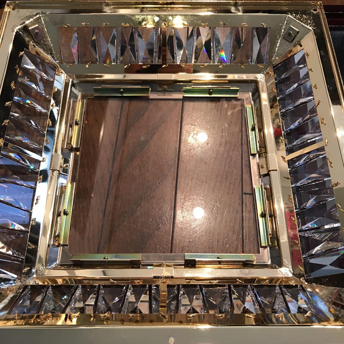 売り切り 木枠付き ゴールドキング 45cm角 豪華 シャンデリア デコトラ レトロ 当時物_画像7