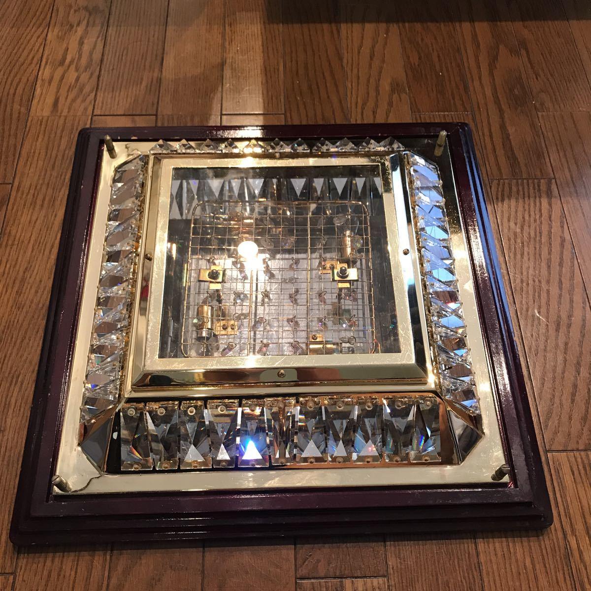 売り切り 木枠付き ゴールドキング 45cm角 豪華 シャンデリア デコトラ レトロ 当時物_画像4