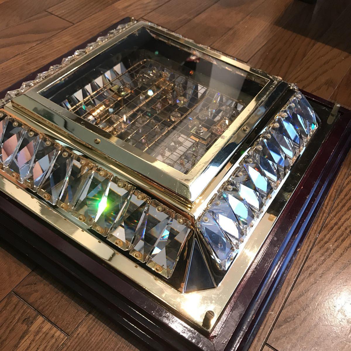 売り切り 木枠付き ゴールドキング 45cm角 豪華 シャンデリア デコトラ レトロ 当時物_画像3