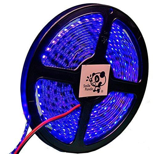 プロ仕様 12V LEDテープライト ブルー 青 黒ベース 600連 5m 正面発光 防水