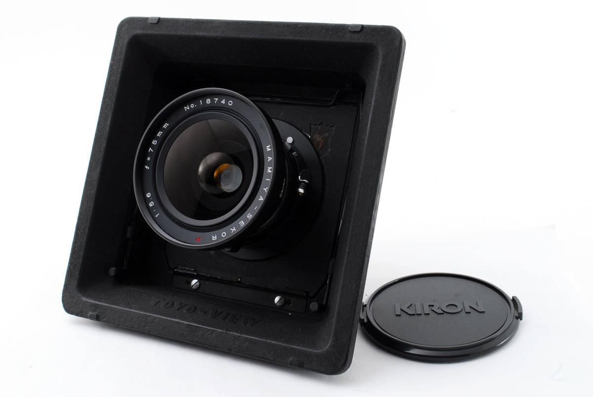 【希少レンズ TOYOボード付き良品】 マミヤ セコール MAMIYA SEKOR P 75mm F5.6  中判カメラ 同梱可能 #2598_画像1