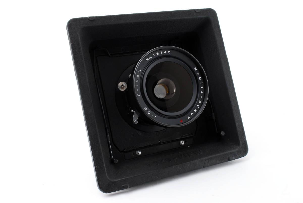 【希少レンズ TOYOボード付き良品】 マミヤ セコール MAMIYA SEKOR P 75mm F5.6  中判カメラ 同梱可能 #2598_画像3