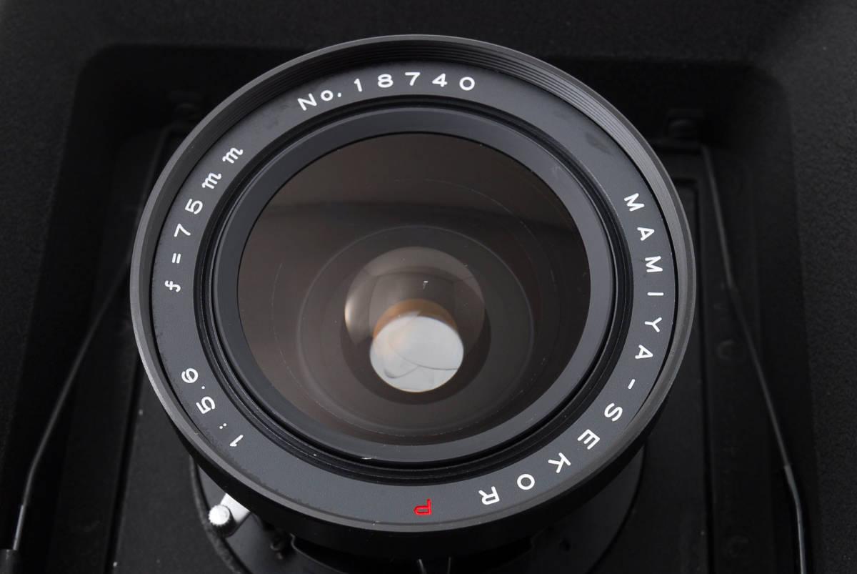【希少レンズ TOYOボード付き良品】 マミヤ セコール MAMIYA SEKOR P 75mm F5.6  中判カメラ 同梱可能 #2598_画像9