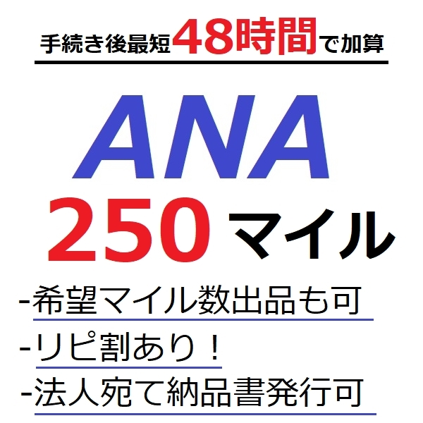 ANA250マイル加算 (最短48時間)●国内線や国際線特典航空券予約発券や施設利用に足りないとき/ANAマイル/ANAマイレージクラブ/海_画像1