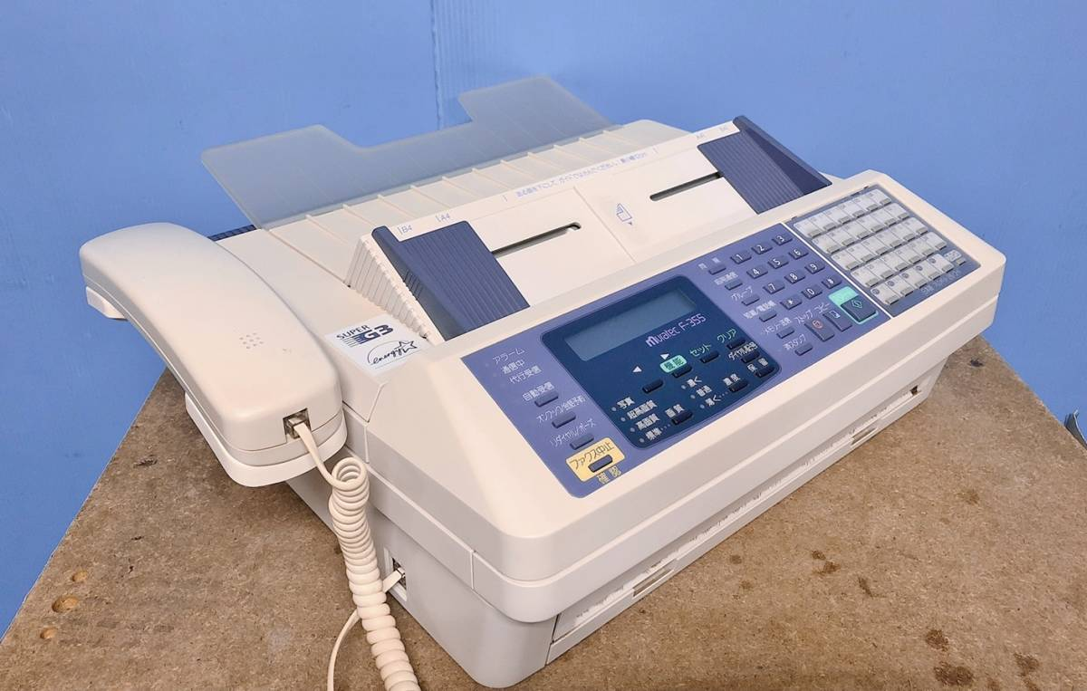 [ service completed ] seal character excellent roll thermo‐sensitive paper Muratec F-355 economic . story vessel attaching TEL/FAX [ low cost ] business use fax prompt decision equipped secondhand goods
