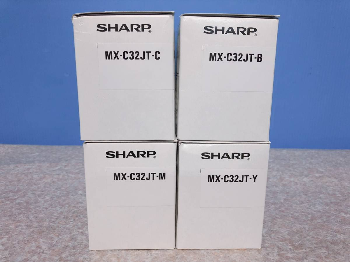 [ prompt decision ]4 color set SHARP MX-C302W for genuine products toner MX-C32JT-BK/Y/C/M color multifunction machine for sharp new goods * unused
