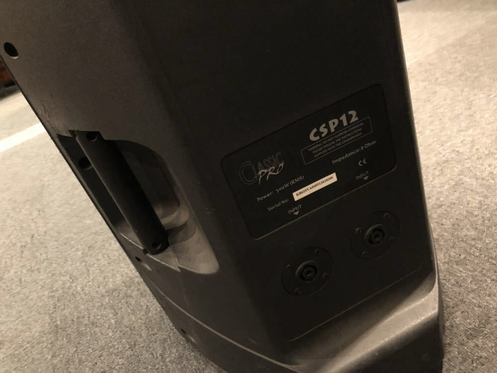 中古品/CLASSIC PRO ( クラシックプロ ) / CSP12 PAスピーカー その2_画像4