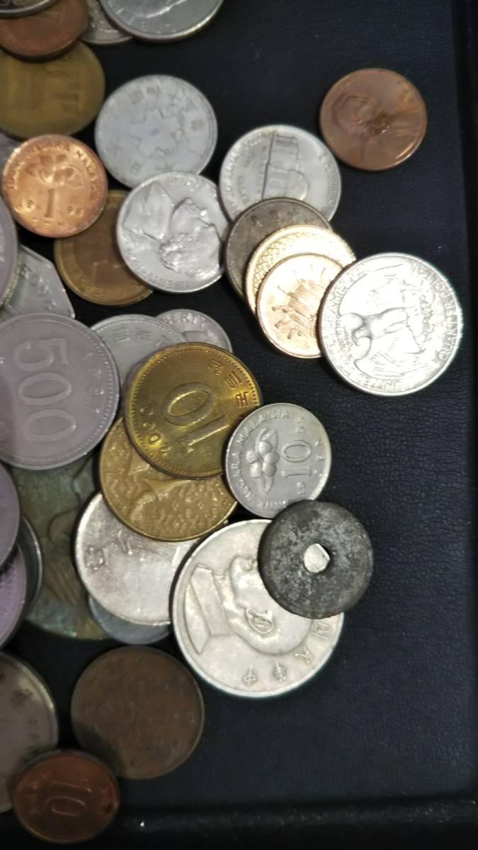 【A3997】お宝あるかも!! 外国銭 香港 中国 アメリカ その他 海外 紙幣 硬貨 まとめ 1000gオーバー_画像4