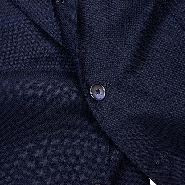 至極の逸品◎!!! シップス ×【伊】ロロピアーナ社製 贅沢リッチな艶感のSUPER130sウール100%生地!通年モデル◎ ネイビージャケット 44 S_画像4