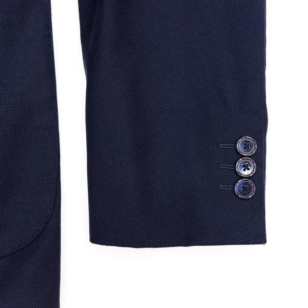 至極の逸品◎!!! シップス ×【伊】ロロピアーナ社製 贅沢リッチな艶感のSUPER130sウール100%生地!通年モデル◎ ネイビージャケット 44 S_画像6