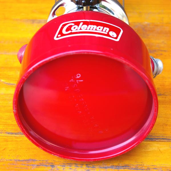 【コールマン】 未使用 Coleman Model 200A 赤ランタン最終モデル 1976年6月製 Made in USA_画像8