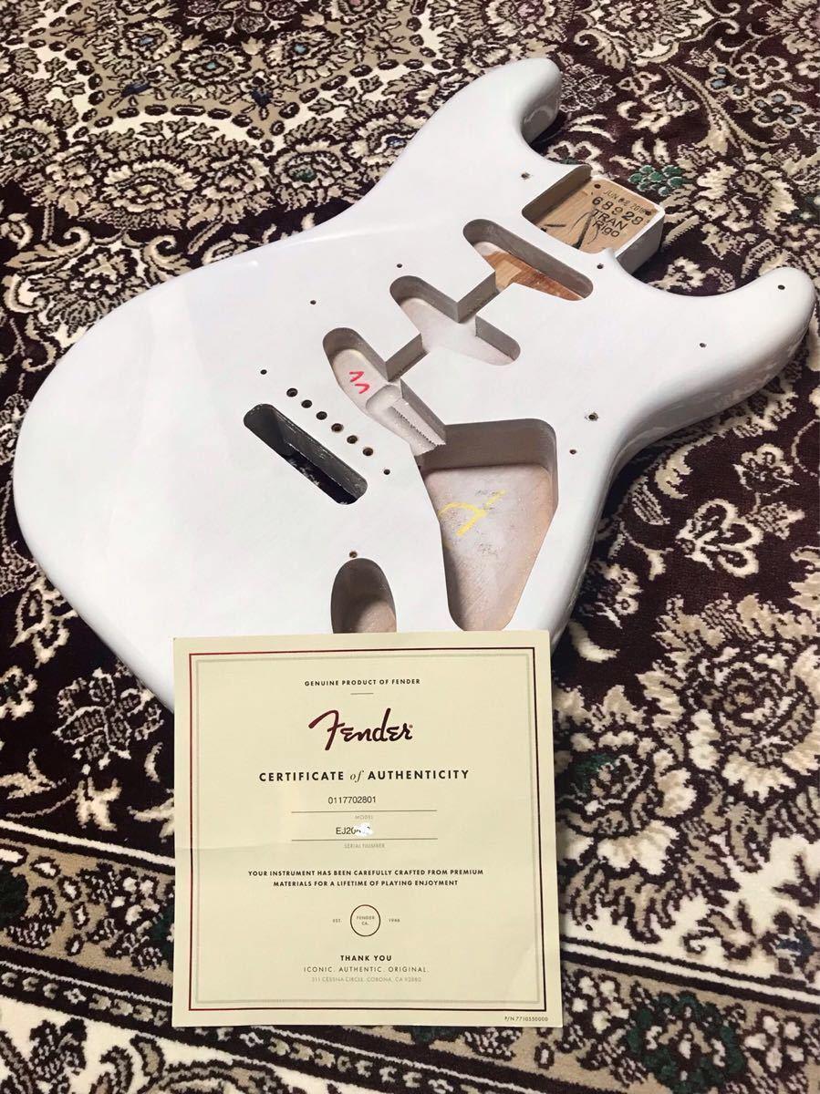 Fender USA 純正 エリック ジョンソン ストラトキャスター ボディ Eric Johnson Stratocaster★2018年製(美品)★証明書付き★軽量 ラッカー