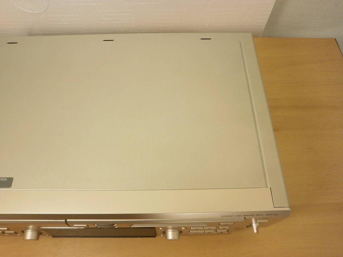 完全整備済 SONY 終盤モデル MXD-D40 動作良好 取説 専用リモコン付 1円スタート CD MD デッキ 4倍速録音 MDLP MDディスク MDレコーダー_画像5