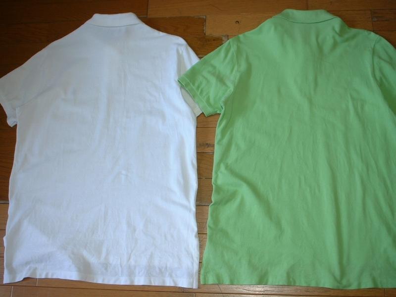 超お得2着セットRalph Laurenワンポイント鹿の子ポロシャツL正規ラルフローレン白ホワイト&緑グリーンPOLO_画像2
