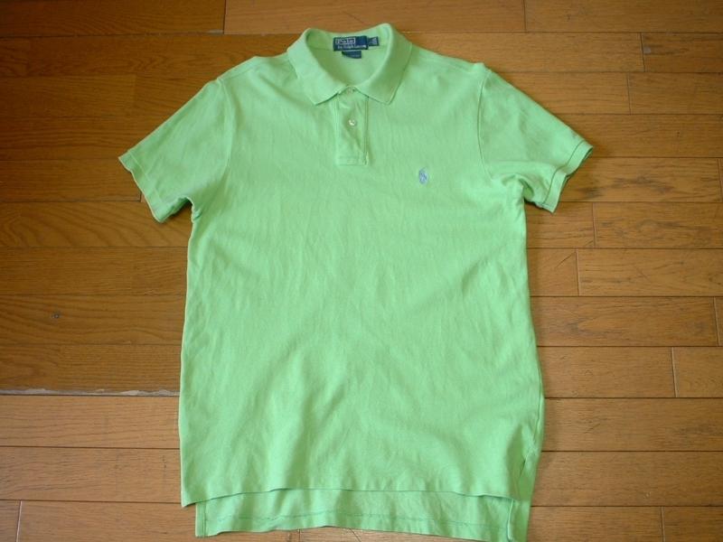 超お得2着セットRalph Laurenワンポイント鹿の子ポロシャツL正規ラルフローレン白ホワイト&緑グリーンPOLO_画像5