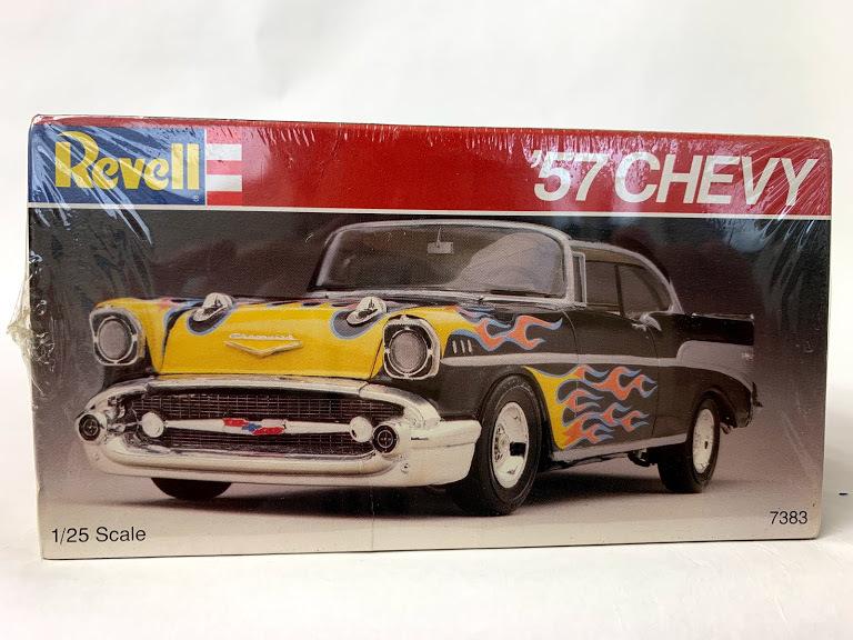 Revell 57 シボレー ベルエア 1/25 レベル*Rat Hot Rod インパラ ローライダー カスタム Kustom ホットロッド Mooneyes 50's ムーンアイズ_画像5
