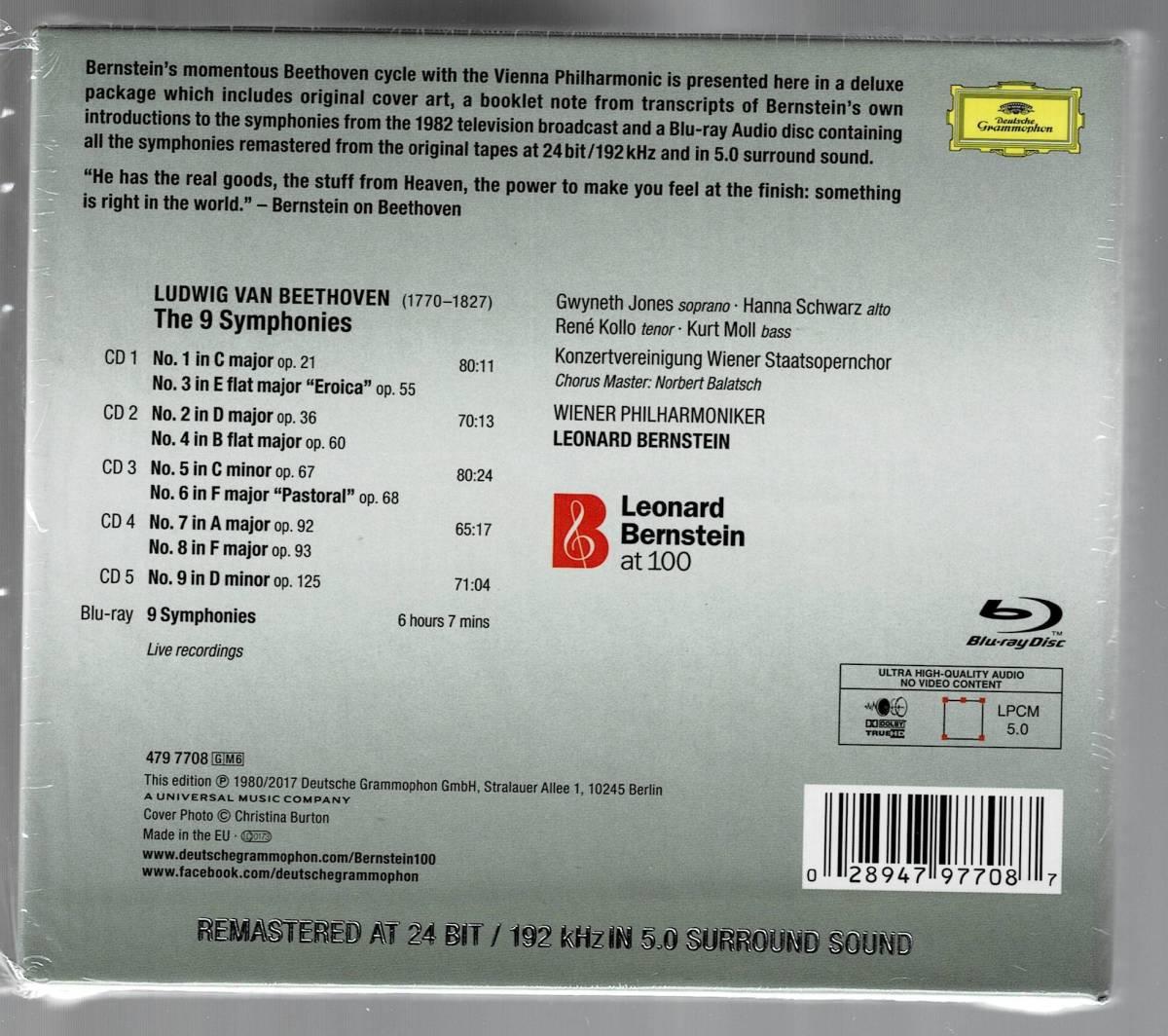 ベートーヴェン交響曲全集 レナード・バーンスタイン&ウィーン・フィル(5CD+ブルーレイ・オーディオ)新品同様_画像2
